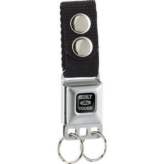 Built Ford Tough Black Keychain