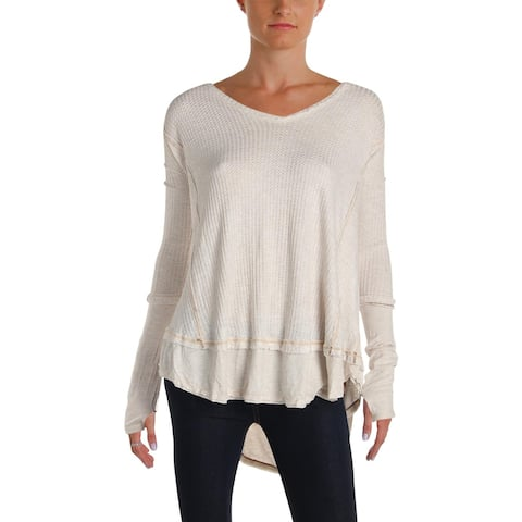 f8330b06de3 Free People Womens Tunic Top V-Neck Long Sleeves