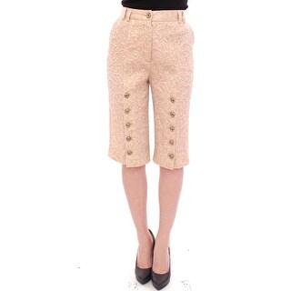 Dolce & Gabbana Dolce & Gabbana Pink silk baroque pattern shorts pants - it40-s