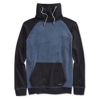 Univibe Mens Funnel-Neck Sweatshirt Heathered Fleece