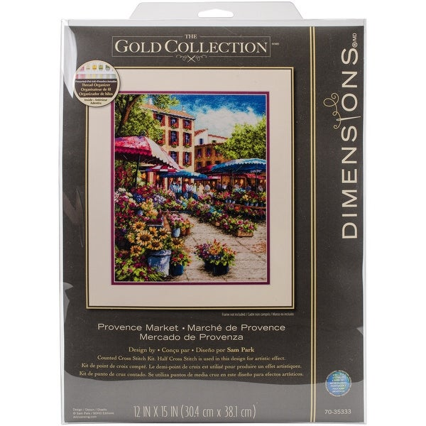 """Gold Collection Provence Market Counted Cross Stitch Kit-12""""X15"""" 18 Count"""