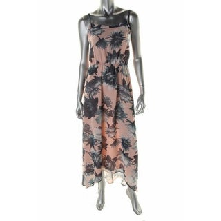 French Connection Womens Maxi Dress Open Back Floral Print - 6
