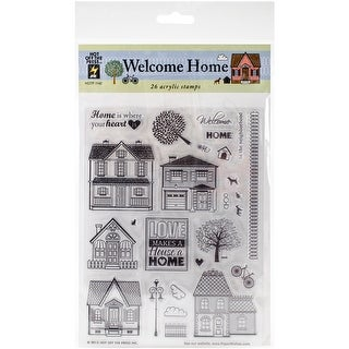 """Hot Off The Press Acrylic Stamps 6""""X8""""-Welcome Home"""
