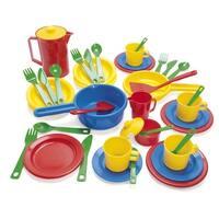 Dantoy 42-Piece Toddler Cookware and Dish Set