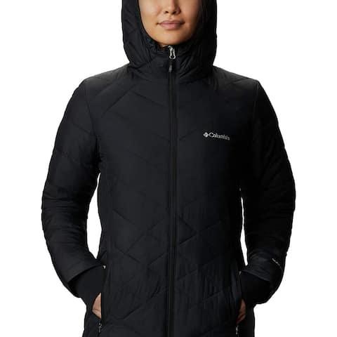 Columbia Women's Heavenly Long Hooded Jacket, Black, X-Small
