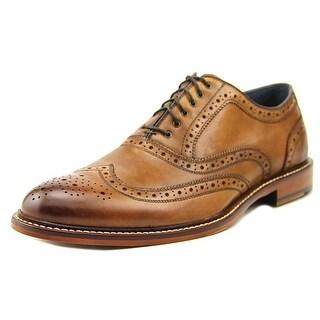 Aston Grey Collection Boyle Men Wingtip Toe Leather Brown Oxford