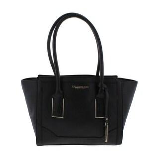 Jones New York Womens Blake Satchel Handbag Faux Leather Logo - LARGE