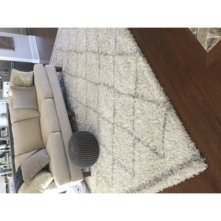 Nuloom Soft And Plush Moroccan Trellis Natural Rug 8 X27