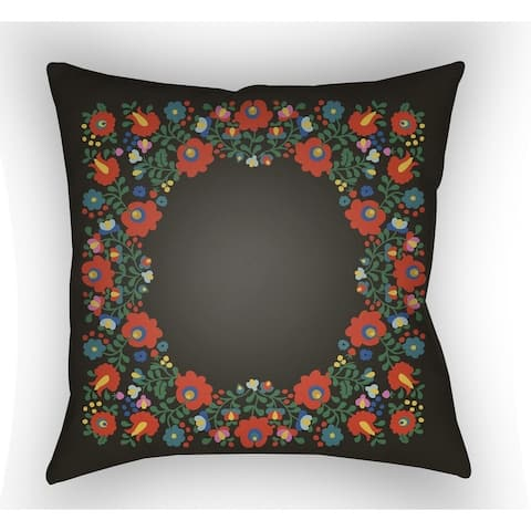 Decorative Brazil 18-inch Poly Filled Pillow