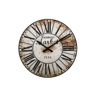"47"" Oversized Metal Farmers Market Distressed Wall Clock"