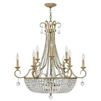Fredrick Ramond FR43759 12 Light 2 Tier Draped Chandelier from the Caspia Collection