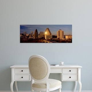 Easy Art Prints Panoramic Images's 'Skyscrapers in a city, Austin, Texas, USA' Premium Canvas Art