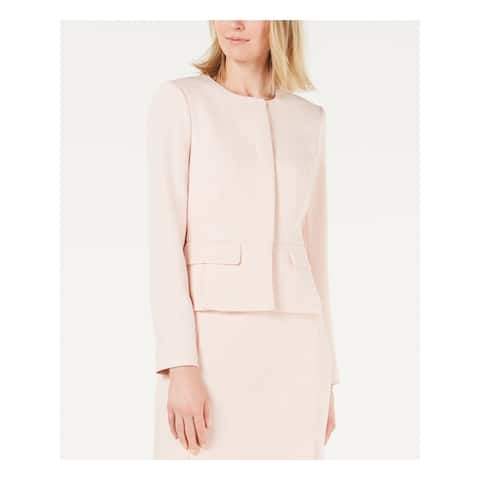 CALVIN KLEIN Womens Pink Button Down Formal Jacket Size 4P