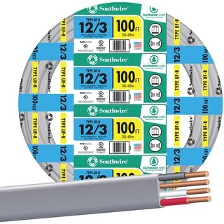 Southwire 100 12-3 Ufw/G Wire