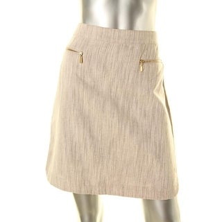 Laundry by Shelli Segal Womens Linen Blend Knee Length A-Line Skirt