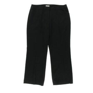 Tahari ASL Womens Petites Julia Solid Flat Front Dress Pants