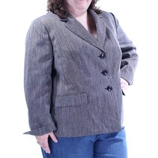 Womens Gray Wear To Work Blazer Jacket Size 22W