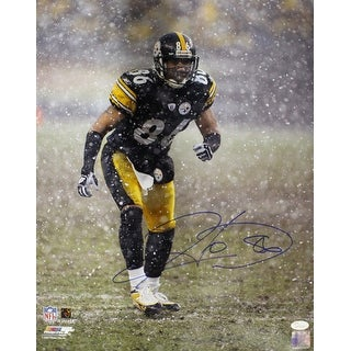Hines Ward Autographed Pittsburgh Steelers 16x20 Photo Snow JSA