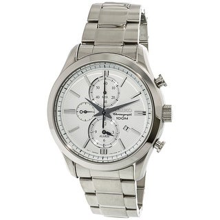 Seiko Men's SNAF63 Silver Stainless-Steel Japanese Chronograph Fashion Watch