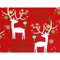 """Holiday Deer 24""""x85' Roll Gift Wrap"""
