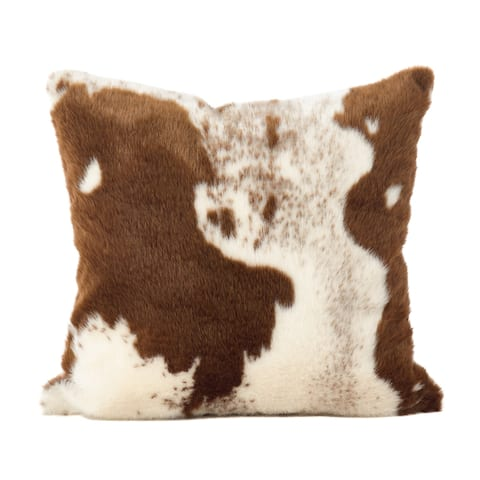 Urban Faux Cowhide Poly Filled Throw Pillow