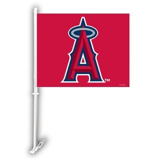 Fremont Die Inc Los Angeles Anaheim Angels Car Flag With Wall Brackett Car Flag With Wall Brackett