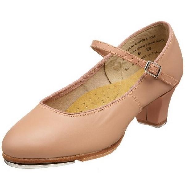 Capezio Adults Jr Footlight Tap Shoes, Suntan, 10M