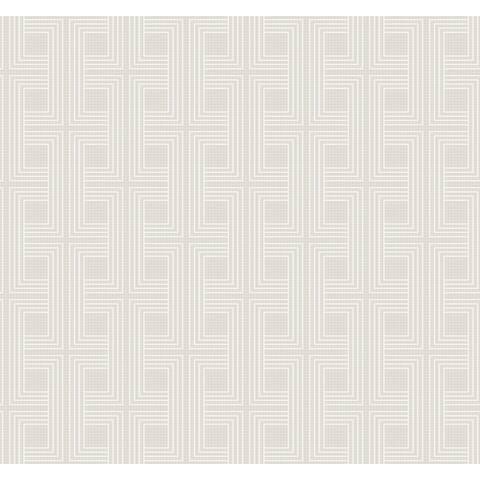 Seabrook Designs Interlocking Squares Unpasted Wallpaper