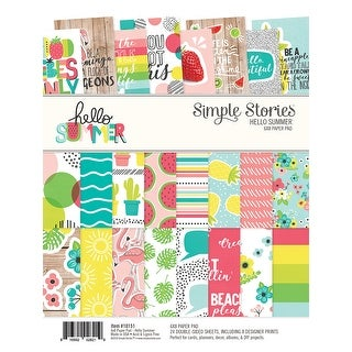 """Simple Stories Double-Sided Paper Pad 6""""X8"""" 24/Pkg-Hello Summer"""