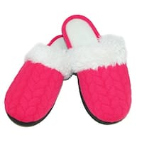 Isotoner Women's Textured Jersey Knit Ansley Clog Slippers