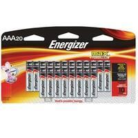 Energizer E92lp-20 Alkaline Aaa - 20-Pack - 1100 Mah/1.5 V Dc