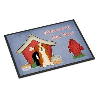 Carolines Treasures BB2864JMAT Dog House Collection English Foxhound Indoor or Outdoor Mat 24 x 0.25 x 36 in.