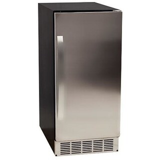 EdgeStar IB450P 15 Inch Wide 25 Lbs. Capacity Built-In Ice Maker with 45 Lbs. Daily Ice Production - Pump Included