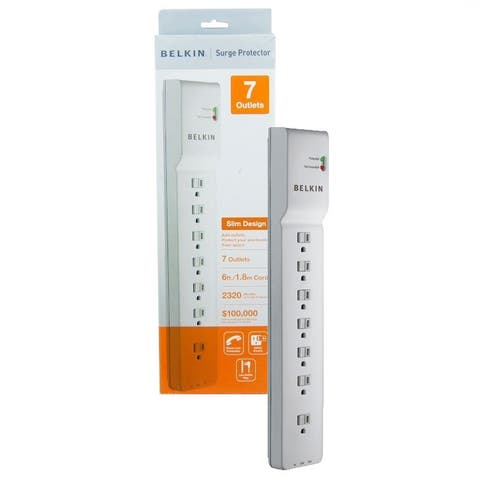 Belkin Beige Surge Protector for Home/Office with 6ft Cord (BE107200-06) - NEW