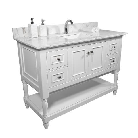 TiramisuBest bathroom vanity tops with sink and back splash-43'',61''