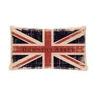 "20"" Downton Abbey British Union Jack Decorative Rectangular Throw Pillow"