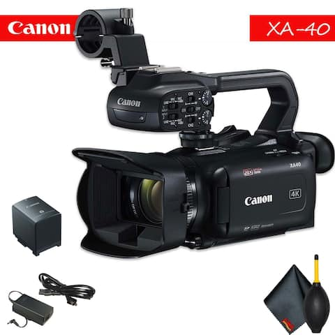 Canon XA40 Professional UHD 4K Camcorder with Accessory Bundle
