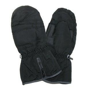 CTM® Extended Cuff Waterproof Mittens - Black