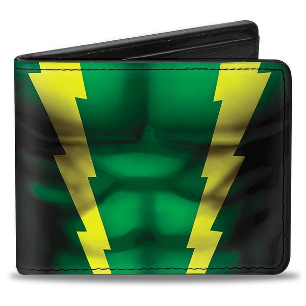 Ultimate Spider Man Electro Chest Stripes Green Yellow Bi Fold Wallet - One Size Fits most