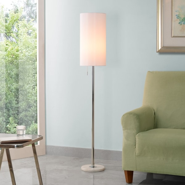 """Aria 59.5"""" Chrome Floor Lamp. Opens flyout."""
