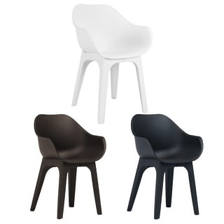 Marvelous Vidaxl 2X Garden Chairs With Armrests Plastic Yard Furniture Overstock Com Shopping The Best Deals On Sofas Chairs Sectionals Inzonedesignstudio Interior Chair Design Inzonedesignstudiocom