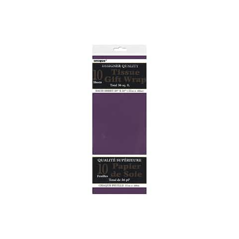"""Unique Tissue Sheets 20x26"""" 10pc Purple"""