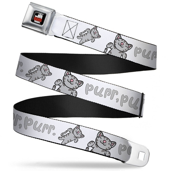 The Big Bang Theory Full Color Black White Red Soft Kitty Purr, Purr, Purr Seatbelt Belt