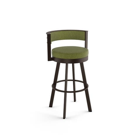 Amisco Browser 30-inch Swivel Metal Barstool