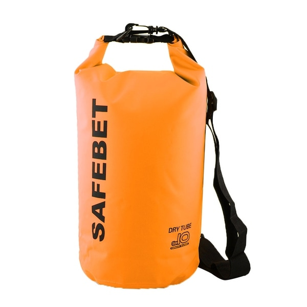 ... SAFEBET Authorized Water Resistant Bag Dry Sack Orange 10L for Rafting Swimming
