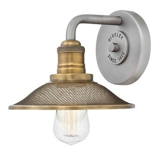 """Hinkley Lighting 5290AN Rigby Single Light 8"""" Wide Bathroom Sconce with Mesh Shade"""