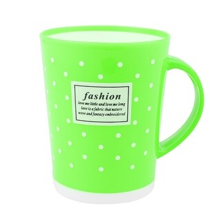 Family Bathroom Polka Dot Pattern Cylinder Shaped Toothbrush Washing Cup Green