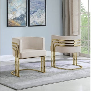 Link to Best Quality Furniture Accent Chairs with Gold Base (Single) Similar Items in Living Room Chairs