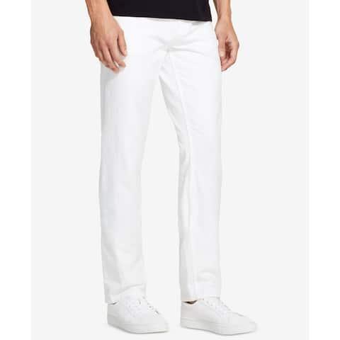 DKNY True White Mens Jeans Size 38X32 Classic Straight Leg Slim Fit