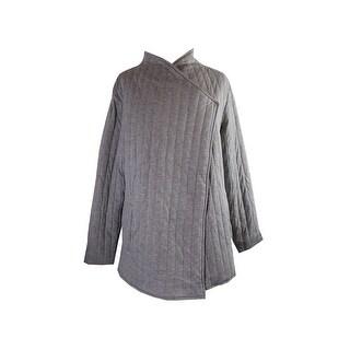 Rachel Rachel Roy Plus Size Grey Quilted Jacket 1X